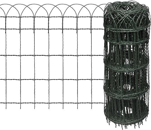 vidaXL Bordes Extensibles para Césped de Jardín 10x0,65 m Cerca ...