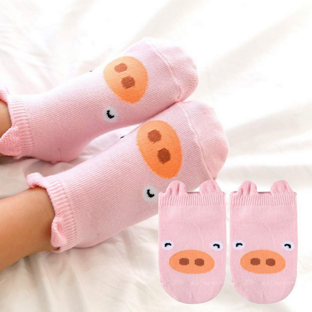 Cartoon Pattern Infant Baby Boy Girl Cotton Short Antiskid Socks Feet Wear Toddler Ankle Hosiery