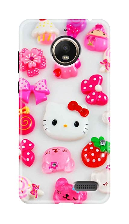 separation shoes 059ac 6e8c5 Renowned Motorola Moto E4 Back Cover/Moto E4 Printed Back Cover - Kitty,  Toy, Butterfly Pattern