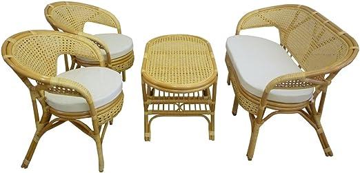 Salotto Vimini Da Giardino.Sf Savino Filippo Set Completo Salotto In Vimini Bambu E Rattan