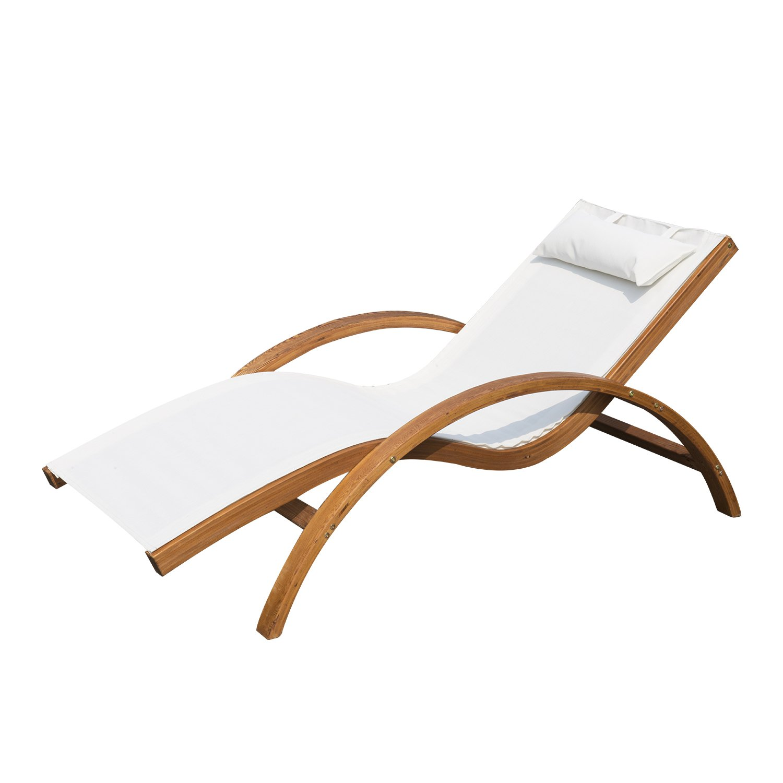 Amazon.de: Outsunny Liegestuhl Sonnenliege Gartenliege Lounge ...