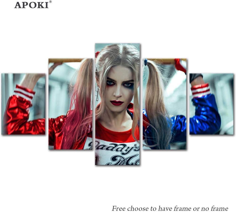 Harley Quinn Suicide Squad Movie Greats 5 piezas-Caja de lamina de arte lienzo enmarcado foto del colgante de pared-Canvas Art Print-Diversa Pintura de la pared de fondoSin marco[Con marco/sin marco]: Amazon.es: Hogar