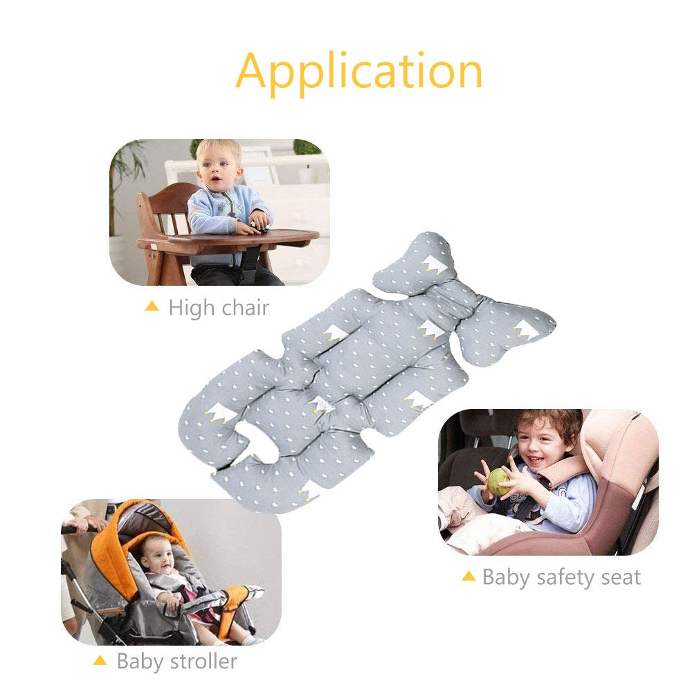 Amazon.com: Baby Seat Mat Cushion, laamie Baby Stroller Cushion Infant Car Seat Liner Pure Cotton Thick Pad Grey Crown: Baby