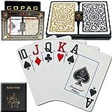 Copag Poker Size Jumbo Index 1546 Playing Cards (Black Gold Setup)