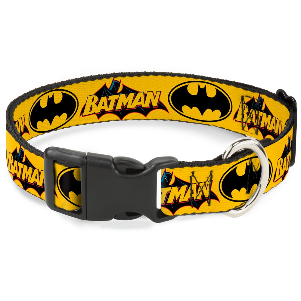 Buckle-Down BAC-WBM017-NL Yellow Breakaway Cat Collar, 1 2  Wide-Fits 9-15  Neck-Large
