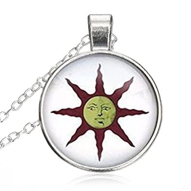 Amazon women small round disc dark souls solaire of astora women small round disc dark souls solaire of astora sunglass cabochon jewelry pendant necklace gift for aloadofball Image collections