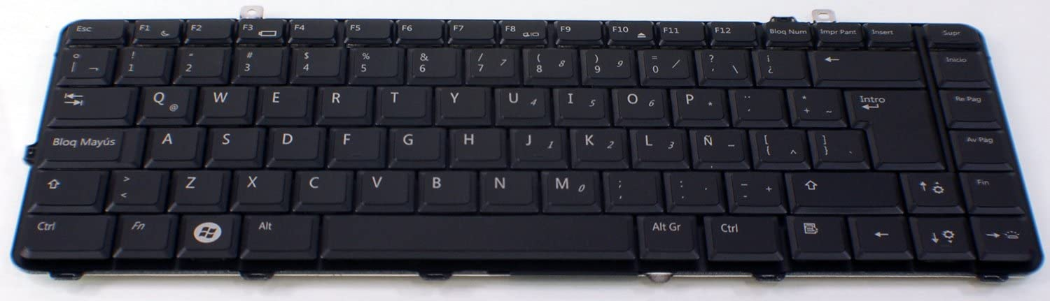 New OEM DELL Studio 1535 1536 1537 Laptop Keyboard Teclado D796C NSK-DC11E Latin Spanish Backlight Light Lite Backlit Replacement Key Keypad