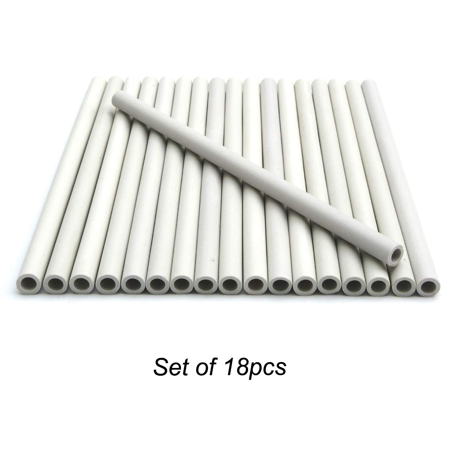 Direct store Parts DF-18 Replacement Gas Grill Ceramic Radiants, BBQ Grill Ceramic Rods for DCS Heat Plates, for DCS Grill 245398, DCSCT, 9.5'' long (18) by Direct store