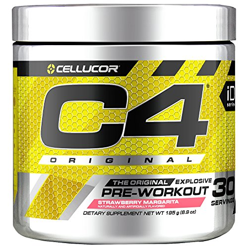 Cellucor C4 Original Pre Workout Powder Energy Drink Supplement for Men & Women with Creatine, Caffeine, Nitric Oxide Booster, Citrulline & Beta Alanine, Strawberry Margarita, 30 Servings