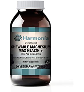 Highly Bioavailable Chewable Flavored Magnesium Citrate and Chelate Dietary Supplement - Tastes Great 250mg per 2