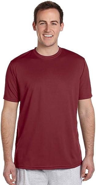 Harriton Men/'s Moisture Short Sleeve Polyester Athletic Sport T-Shirt M320