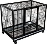 Cheap Rolling Portable Pet Kennel Training Crate