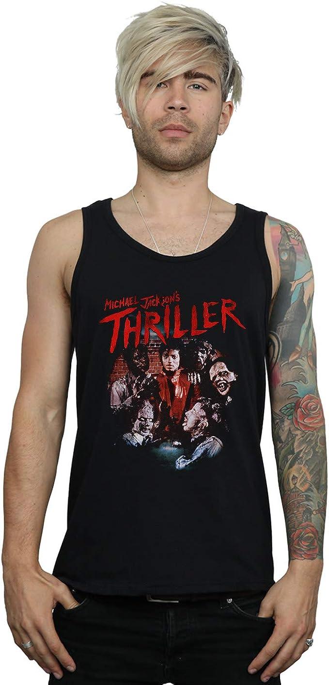 Michael Jackson Hombre Thriller Ghouls Camiseta Sin Mangas: Amazon.es: Ropa y accesorios