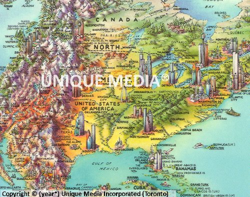 Buy unique media maps world
