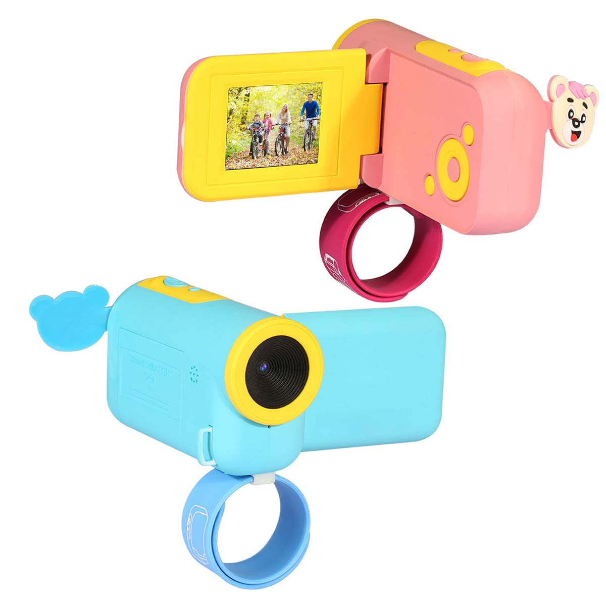 RONSHIN Kids Camera, Mini Puzzle Cartoon Cameras HD Children's Toy Digital Camera Cute Pink by RONSHIN