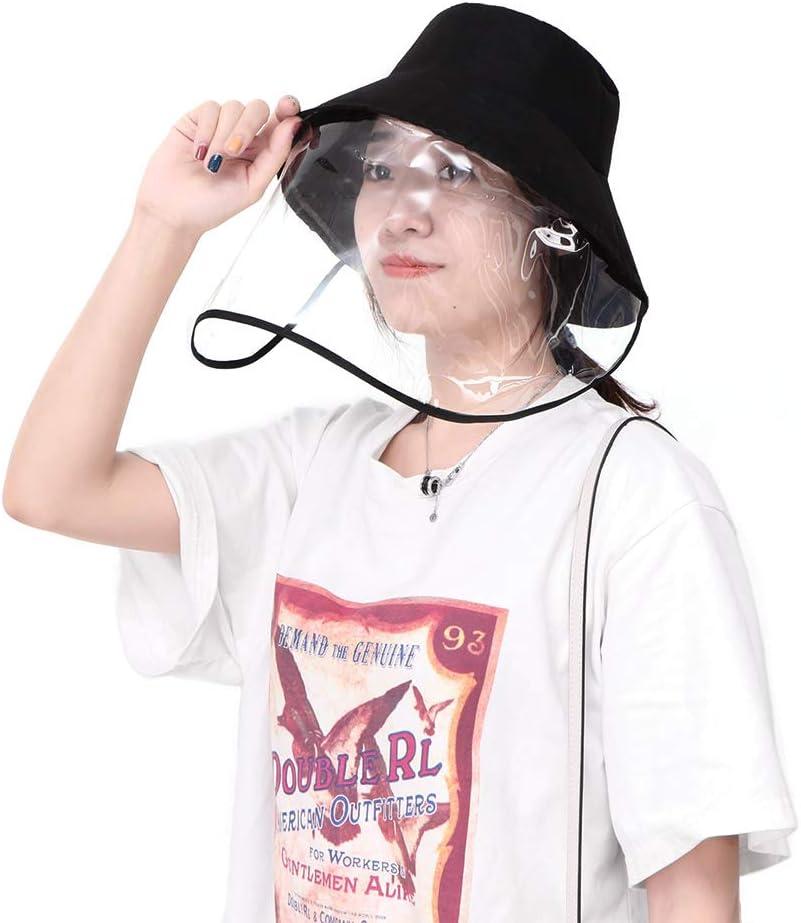YChoice365 Chapeaux De Protection Multifonctionnels Chapeau De Protection De S/écurit/é avec /écran Facial Couvercle De Protection pour Les Yeux Anti-crachats Visage Ext/érieur Casquette De P/êcheur