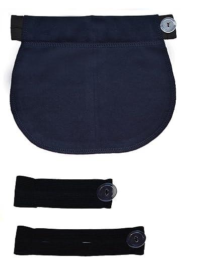 Mija - Juego de 3: Maternidad Embarazo banda de cintura AJUSTABLE extensor elástico de cintura 1028 (Azul): Amazon.es: Ropa y accesorios
