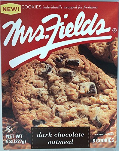 - Mrs. Fields Soft Baked Dark Chocolate Oatmeal Cookies (8 Oz.) Pack Of Two