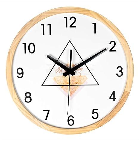 HMMDD Reloj de Pared de 13 Pulgadas de Madera Verde, Moderno, Minimalista, de