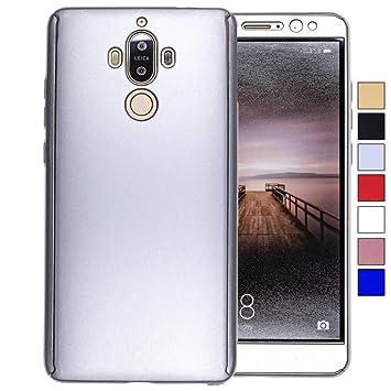 COOVY® Funda para Huawei Mate 9 360 Grados, Carcasa Ultrafina y Ligera, con Protector de Pantalla, protección de Cuerpo Completo | Color Lata