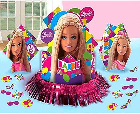 Barbie Sparkle Party Table Decorations Kit ( Centerpiece Kit ) 23 PCS - Kids Birthday and Party Supplies Decoration