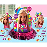 Barbie Sparkle Party Table Decorations Kit ( Centerpiece Kit ) 23 PCS - Kids Birthday and Party Supplies Decoration
