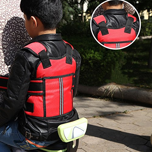 Fivtyily Child Motorcycle Safety Harness Straps for Kids Adjustable and Breathable(Random Color) ()