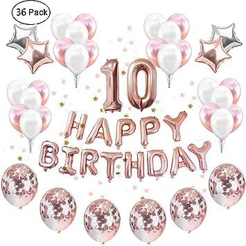 Unique Fête Happy 3rd Anniversaire Ballons Set 10 partyware Décorations de Fête NEUF
