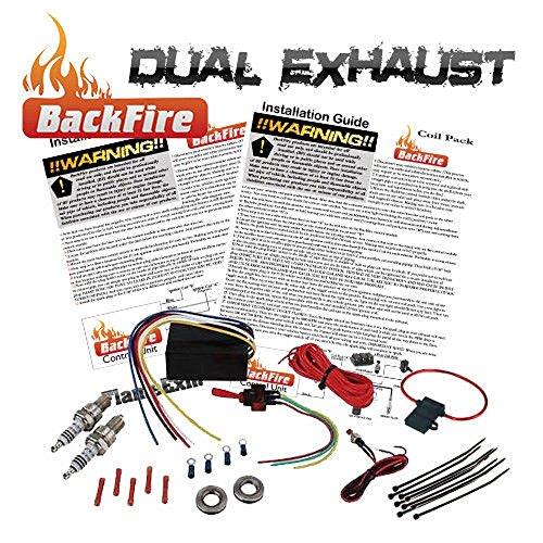 Exhaust Flame Thrower Kit - New BackFire Dual Universal Automotive Exhaust Flame Thrower Fire Throwing Kit Muffler