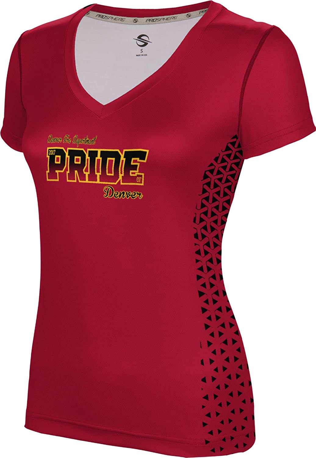 ProSphere Women's Denver Fire Department Geometric SL V-Neck Training Tee