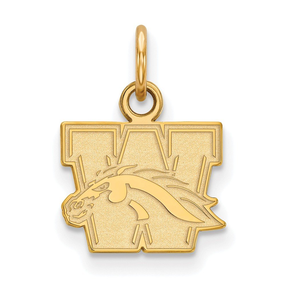 Jewel Tie 925 Sterling Silver with Gold-Toned Western Michigan University Extra Small Pendant