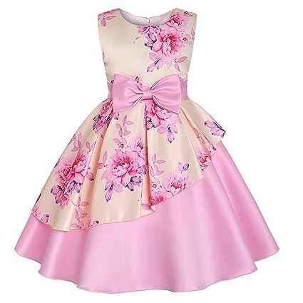 Yre Vestido De Niña De Impresión De Vestir De Los Niños
