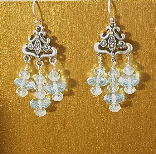 Aquamarine chandelier earrings Aquamarine Crystal Chandelier