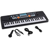 Digital Electronic Musical Keyboard - Kids Learning Keyboard 49 Keys Portable Electric Piano w/ Drum Pad, Recording…