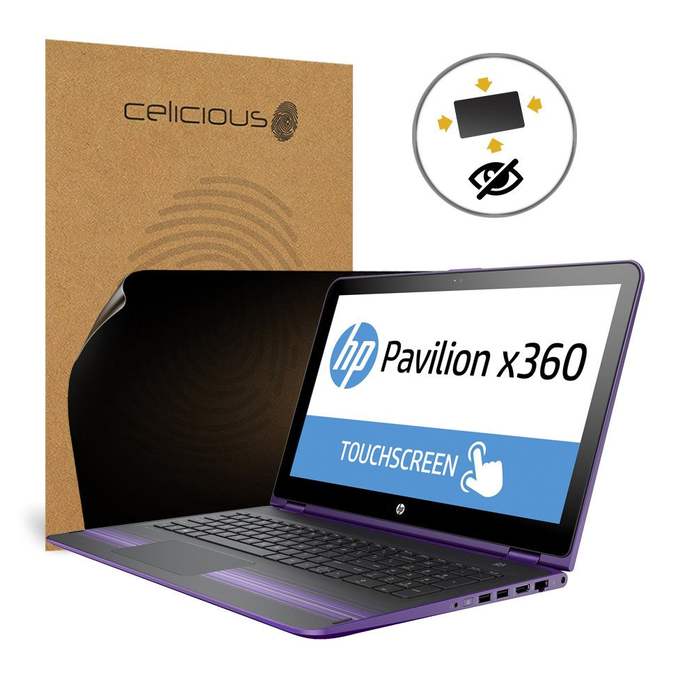 Celicious Privacy Plus 4-Way Anti-Spy Filter Screen Protector Film Compatible with HP Pavilion x360 15