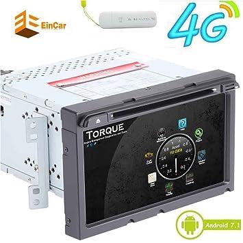 Libre 4G Dongle doble din coche reproductor de DVD androide 7.1 de cuatro núcleos FM RDS