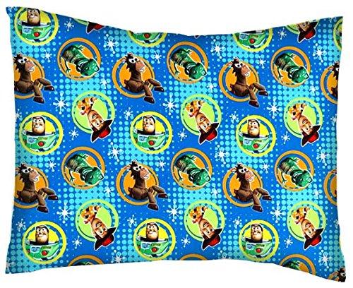 SheetWorld Crib / Toddler Percale Baby Pillow Case - Buzz Light Year - Made In USA (Baby Buzz Lightyear)