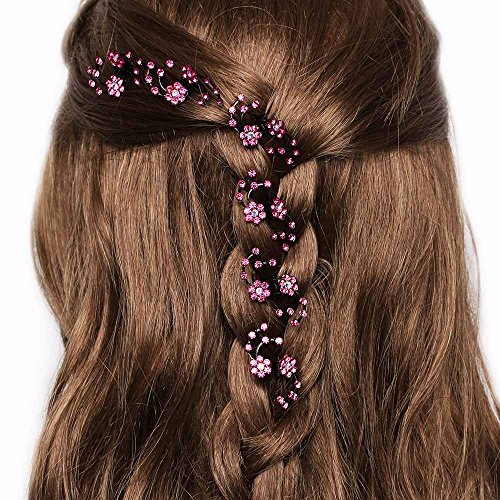 JD Million shop 6Pcs/Set Charming Women Lady Rhinestone Flower HairClips Hair Claws Hairpins Barrettes Bridal Braiders - Card Gift Benefit Balance