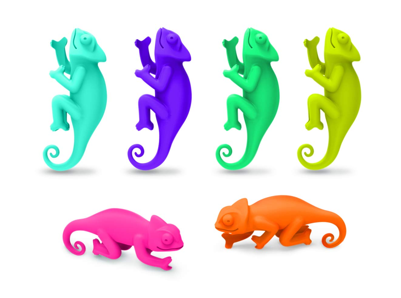 Fred SOCIAL CLIMBERS - Chameleon Wine Charms, Set of 6 by Fred & Friends