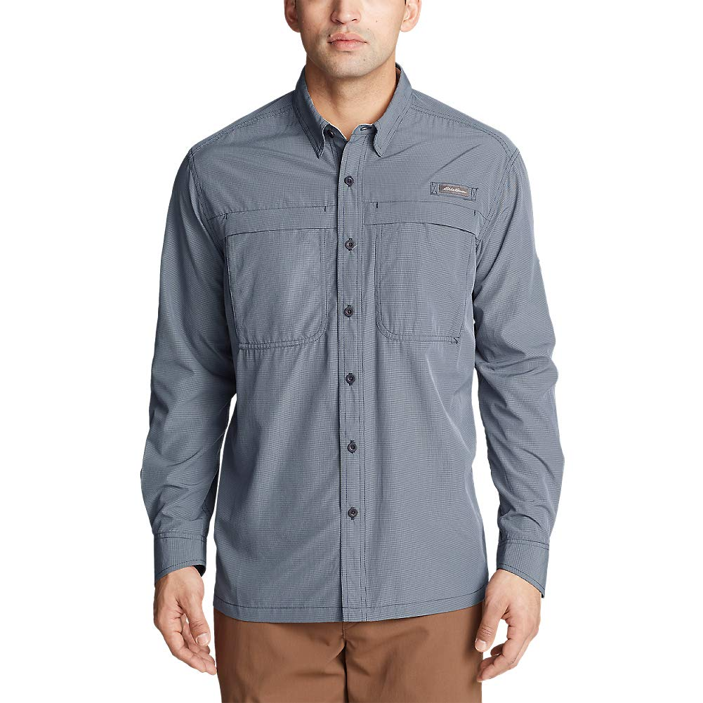 e01df314bd Eddie Bauer Men s Guide Long-Sleeve Shirt at Amazon Men s Clothing store