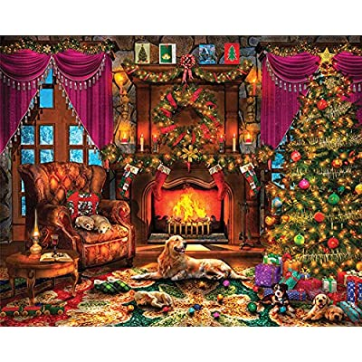 Springbok Puzzles - Cozy Christmas - 1000 Piece Jigsaw Puzzle - Large 24 Inches by 30 Inches Puzzle - Made in USA - Unique Cut Interlocking Pieces: Toys & Games