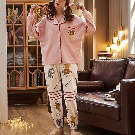 DUXIAODU Pijama de algodón para Mujer   Suave y Confortable ...