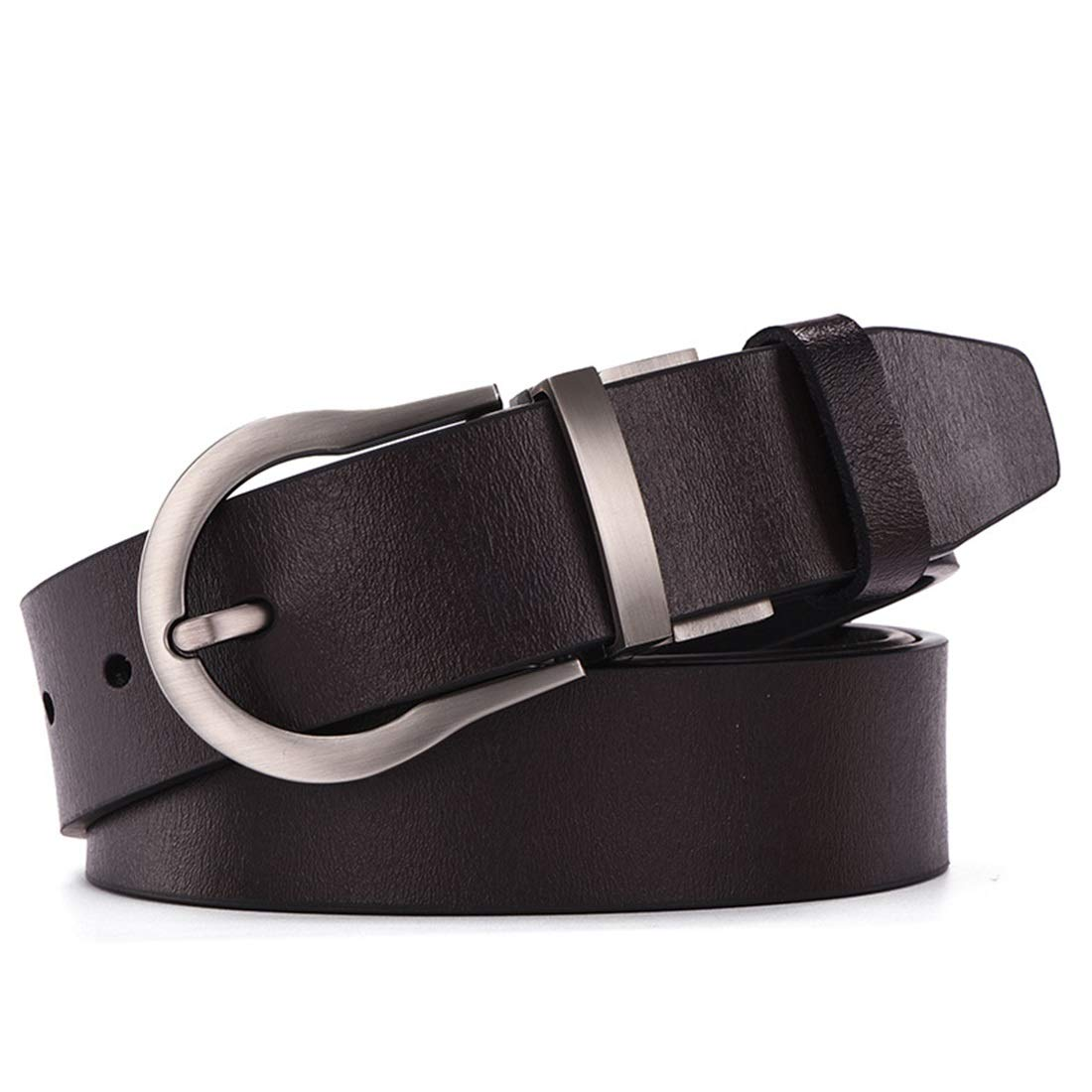 Reversible with Single Prong redated Buckle Gift Box Men's Genuine Leather Dress Belt Belts (color   Black)