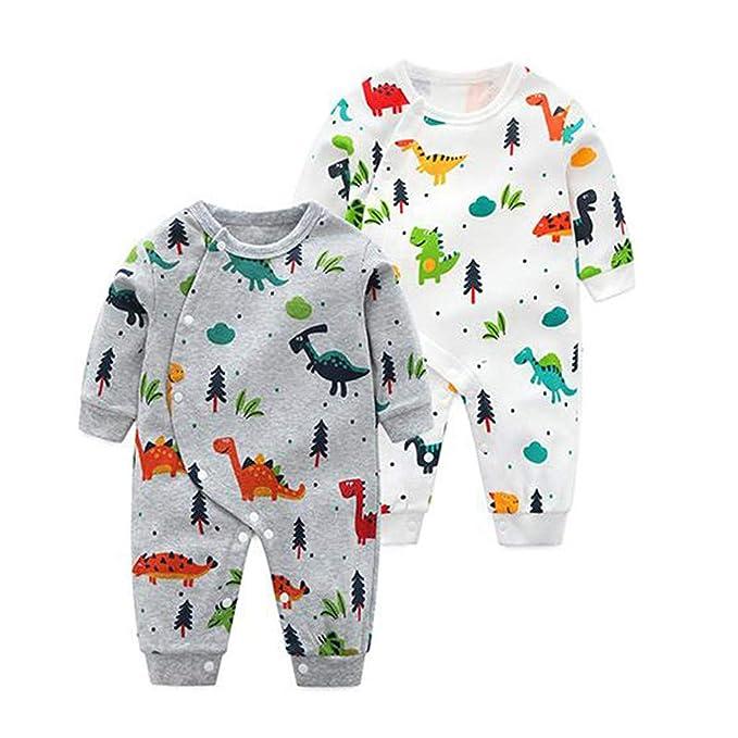 Infant Newborn Baby Boy Girl Cotton Romper Bear Print Long Sleeve Bodysuit Jumpsuit Kehen Baby Christmas Pajamas