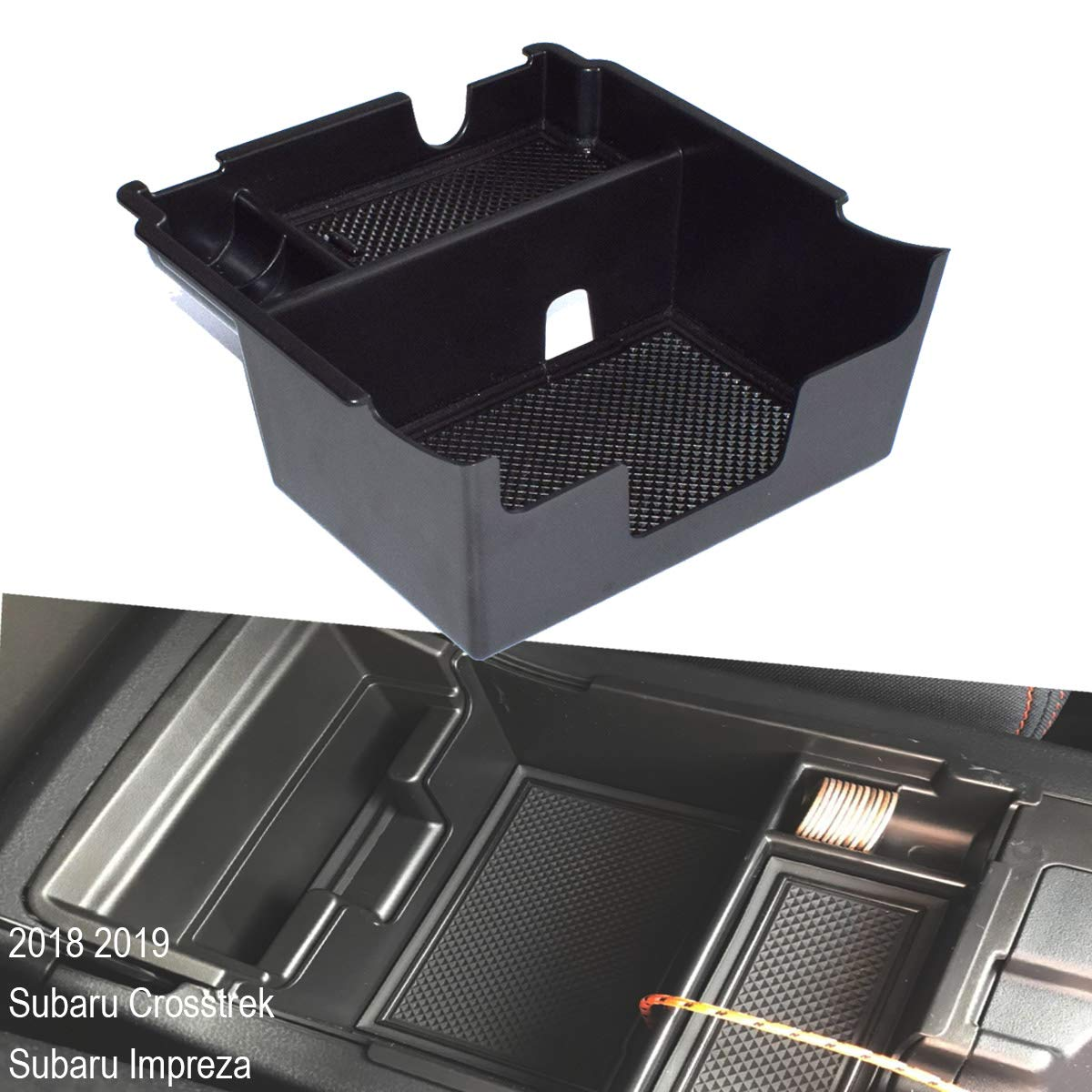 EDBETOS Organizer for Subaru Crosstrek Subaru Impreza 2018 2019 Center Console Armrest Organizer Accessories Tray, Armrest Box Secondary Storage