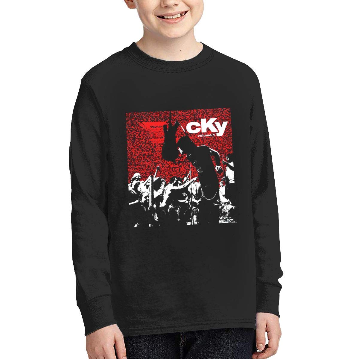 HangHisi CKY5 Boys /& Girls O Neck Regular Style Tee Long Sleeve T Shirt Leisure