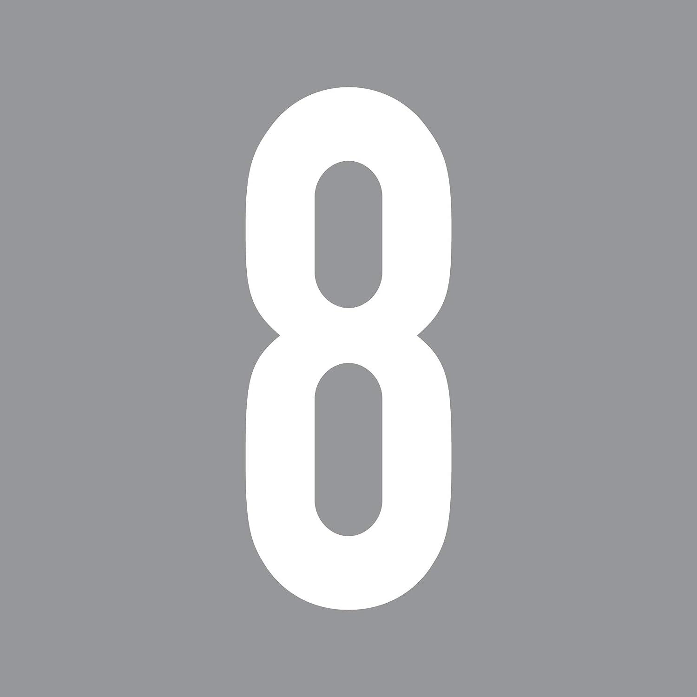 schwarz, 7 GreenIT 12cm DIN 1451 Wunsch Ziffer Zahl Nummer Hausnummer Aufkleber Tattoo Deko Folie T/ür Fenster Lampe