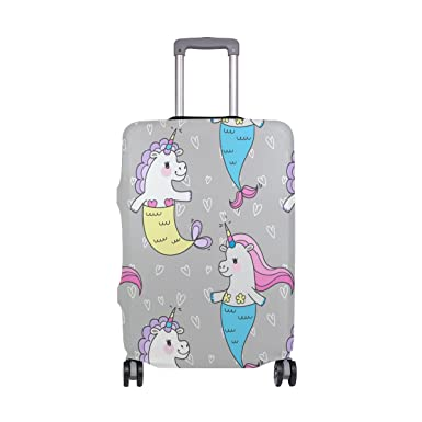 OREZI Luggage Protector Cute Unicorn Pattern Travel Luggage Elastic Cover Suitcase Washable and Durable Anti-Scratch Stretchy Case Cover Fits 18-32 Inches