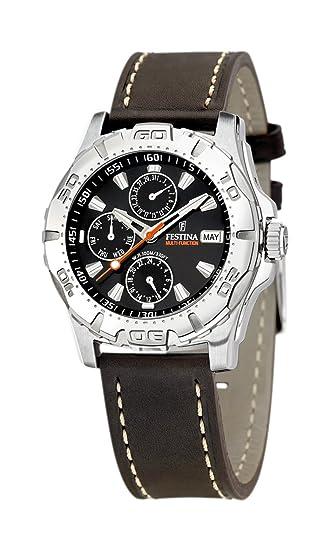 FESTINA F16243/8 - Reloj de Caballero de Cuarzo, Correa de Piel Color marrón: Amazon.es: Relojes