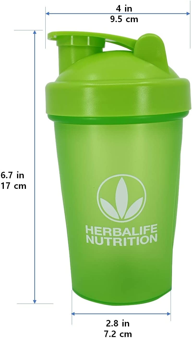 Herbalife Botella batidora 13.5 onzas (400 ml), Color Verde ...